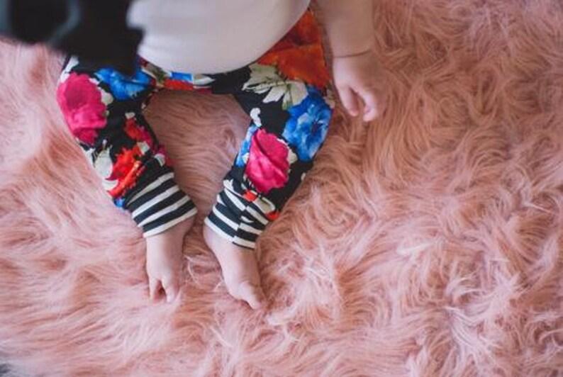 537ee928aeb92 Floral / Stripe Joggers Baby Boy Leggings Baby Pants | Etsy