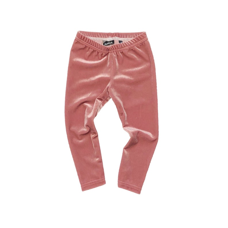 793331ad914037 Mauve Pink Velvet Leggings Baby Leggings Toddler Leggings   Etsy