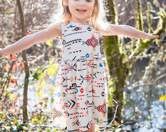 Lost Girl Dress -  Toddler Dress - Baby Dress - Girls Dress - Girl Dress - Aztec Dress - Toddler Clothes - Baby Clothes -  Baby Outfit