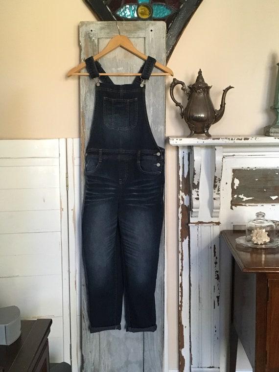 great fit durable service release info on Denim Bib Overalls - Girls Size XL- Petite Ladies - Lei Dark Denim Bibbed  Carpenter Pants