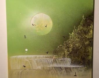 Waterfall Spray Paint Art