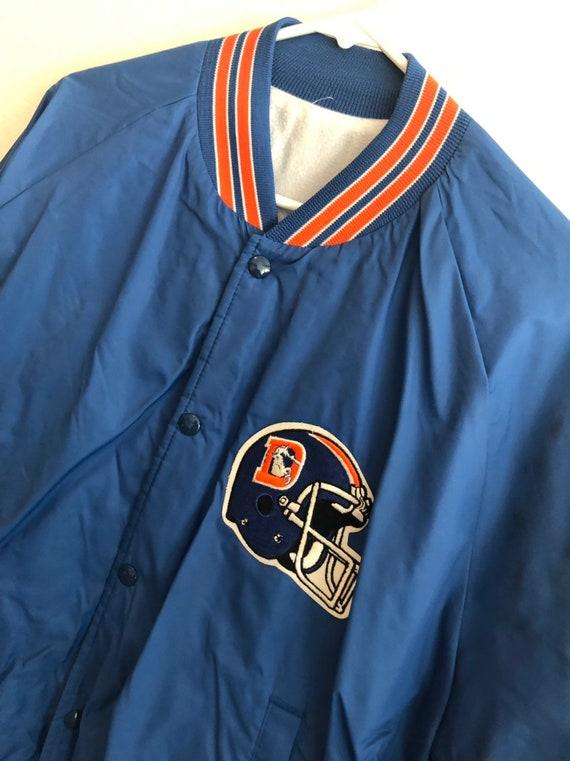 best sneakers e7585 f2b68 Vintage Denver Broncos Letterman Style Light Weight Jacket.