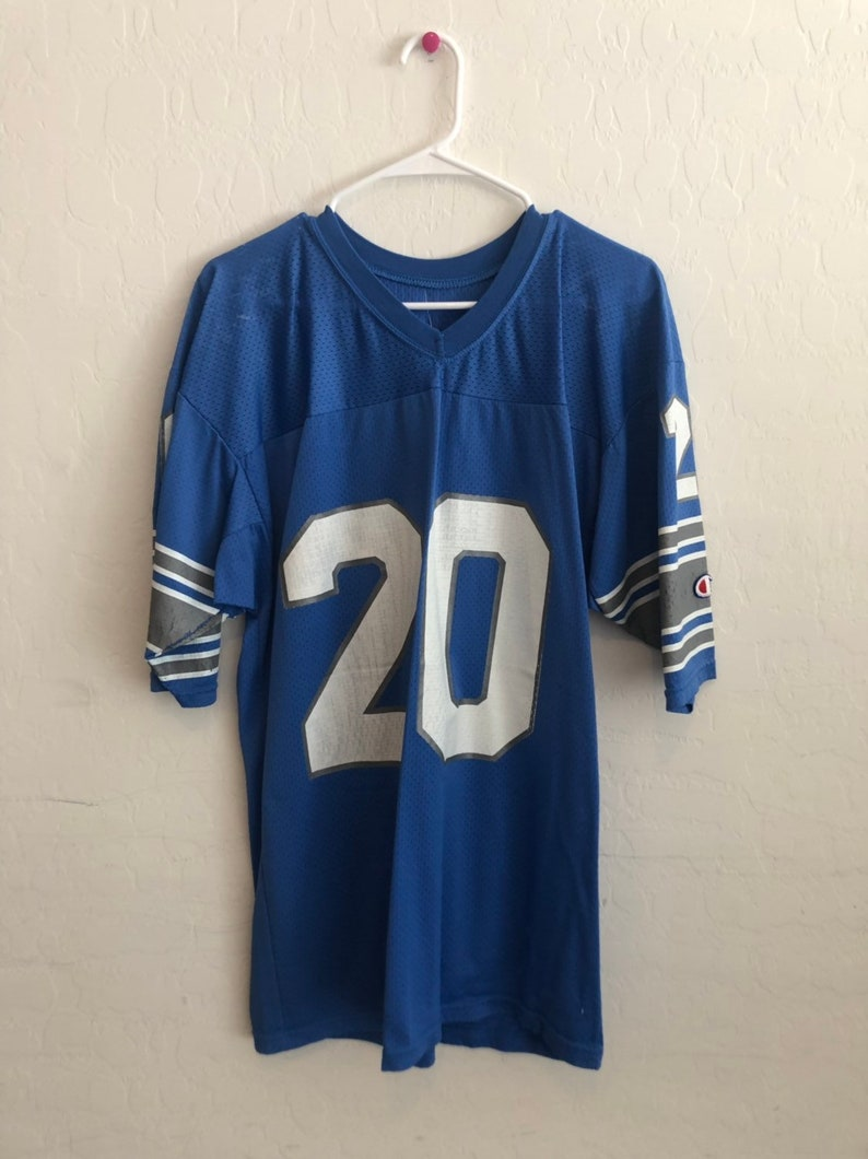 official photos 3be1b 1735c Vintage Detroit Lions Barry Sanders Jersey by Champion.