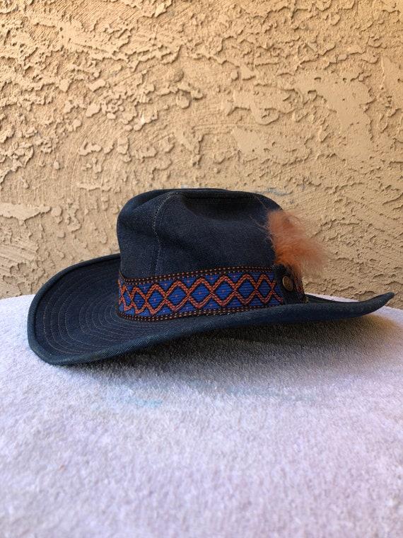 Vintage Levi Denim Cowboy Hat