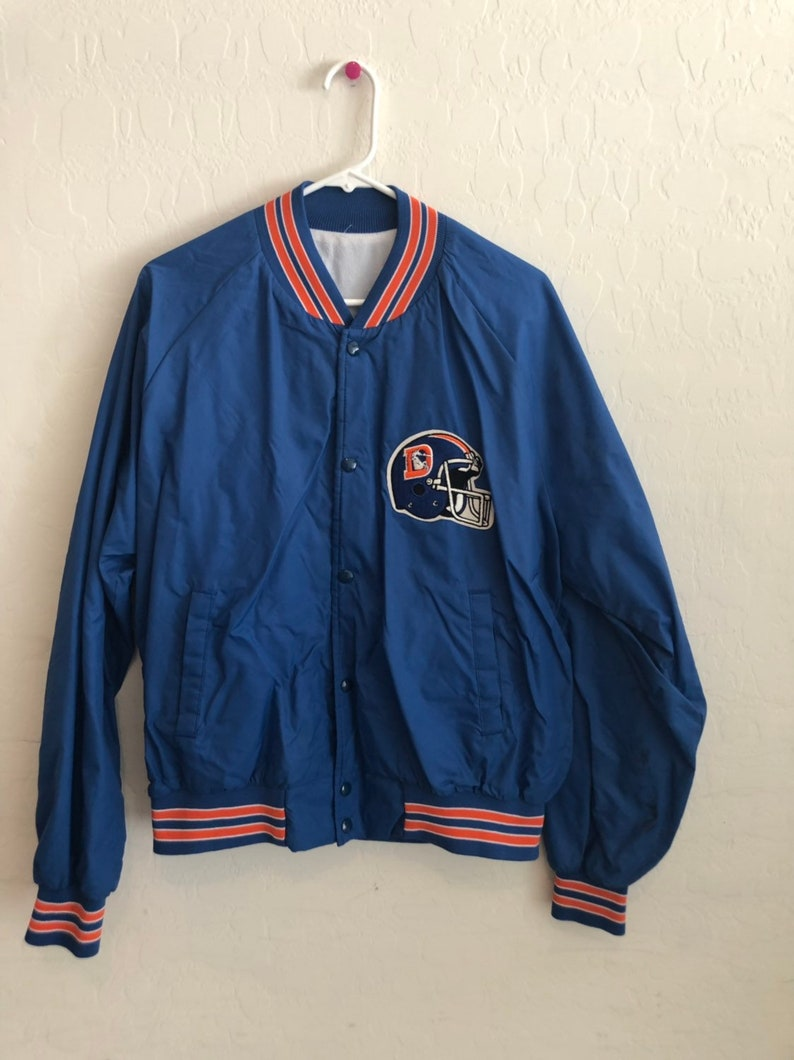 best sneakers e7585 f2b68 Vintage Denver Broncos Letterman Style Light Weight Jacket.