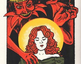 The Countess Cathleen Devil Silkscreen Print