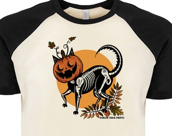 Cat O'Lantern Raglan T-Shirt