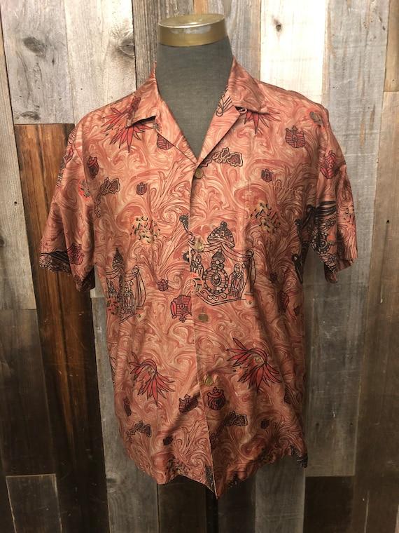 Stan Hicks Honolulu Hawaiian Print Shirt / Vintag… - image 1
