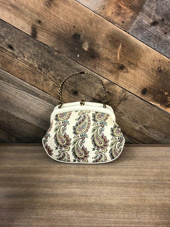 Paisley Print Handbag / Lou Taylor Miami Paisley P