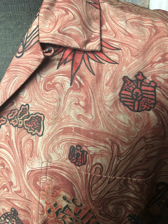 Stan Hicks Honolulu Hawaiian Print Shirt / Vintag… - image 4