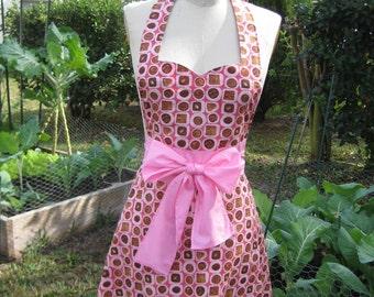 "Chocolate decadency sweetheart neckline. Stylish and modern apron . Valentine""s Apron"