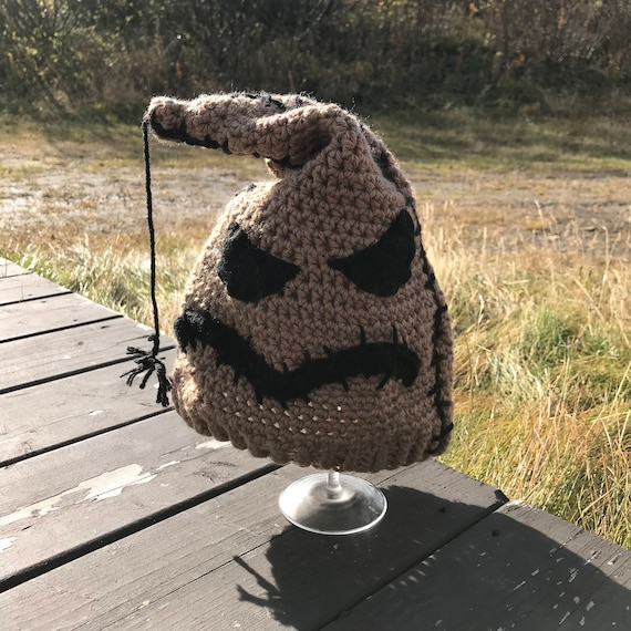Oogie Boogie Man Inspired Hat   Crochet Pattern Only For Adult Size Hat   Nightmare Before Christmas by Etsy