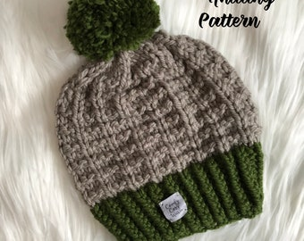 Blizzard Beanie & Infinity Scarf - knitting PATTERN ONLY - NOT a finished item