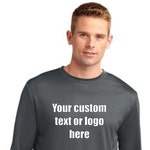 Custom printed long sleeve dryfit shirts, Performance shirts for businesses, Personalized active wear, moisture wickining shirts