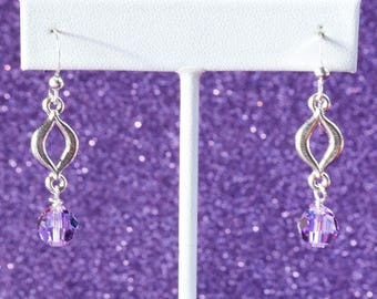 Lavenderlicious Swarovski Crystal Earrings