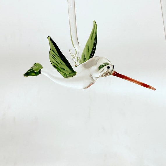 Glass Hummingbird Ornament