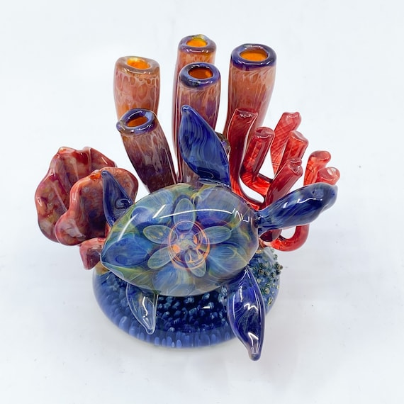 Reef Turtle Glass Sculpture