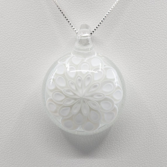 White Dotstack Glass Pendant