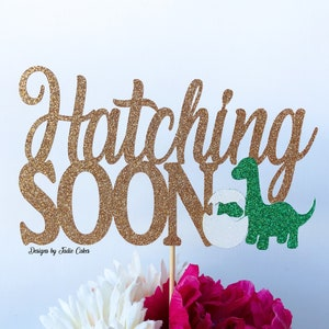 Hatching Soon Cake Topper almost baby mommy to be parents to be soon to be mom cake topper