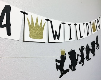 Where the wild things are | Wild One | Wild one party decor | Where the wild things are party decor | Wild one banner | Wild Thing