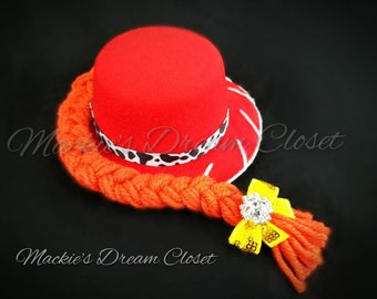 4f2d23d9 Baby girl boy toddler Jessie Andy Toy Story cowboy red top hat one size 5