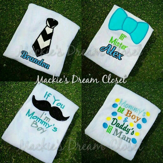Infant Boys Gray Mommys Little Man Bodysuit Mustache Creeper Baby Outfit