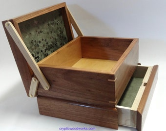 Jewelry / Keepsake Box with Spring Open Drawer - #3 of 12