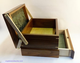 Jewelry / Keepsake Box with Spring Open Drawer - #11 of 12