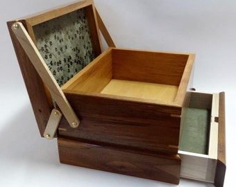 Jewelry / Keepsake Box with Spring Open Drawer - #6 of 12