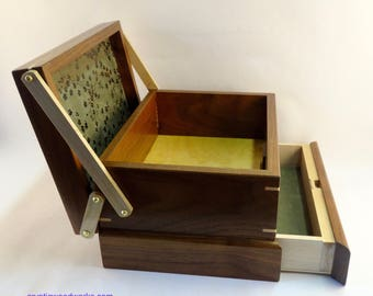 Jewelry / Keepsake Box with Spring Open Drawer - #12 of 12