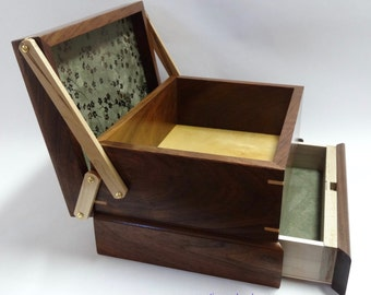 Jewelry / Keepsake Box with Spring Open Drawer - #5 of 12