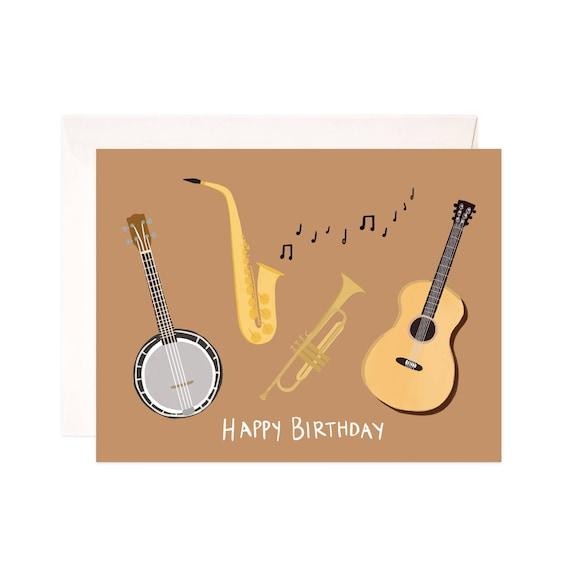 Happy Birthday Card Handmade Musical Greeting