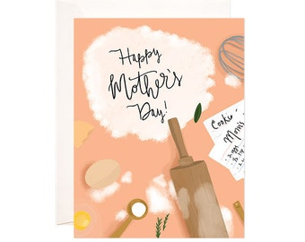 Mothers Day Card: Handmade Bloomwolf Studio Mothers Day Greeting Card