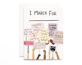 Women's March: I March For ______ Cards
