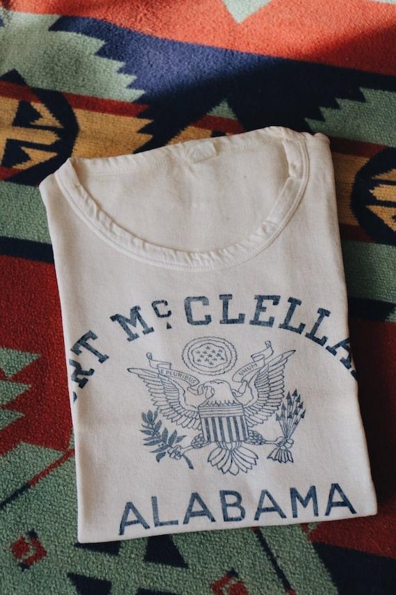 Vintage 1950s Fort Mcclellan Alabama t shirt