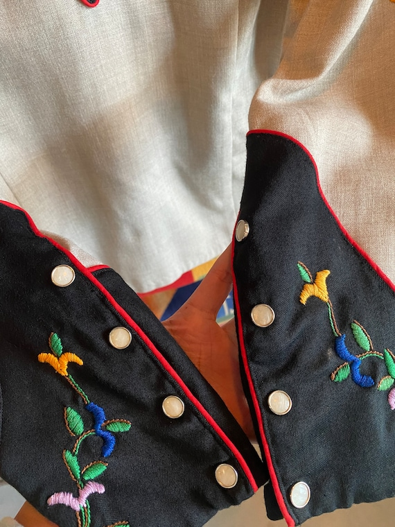 Vintage 1940s 1950s western cowboy embroidered sh… - image 3