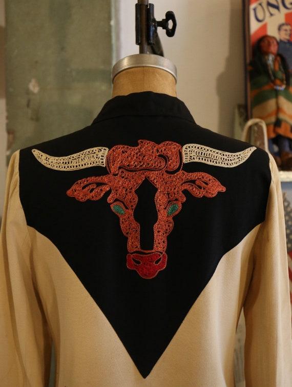 1940's 50s Dallas Embroidering western cowboy gaba