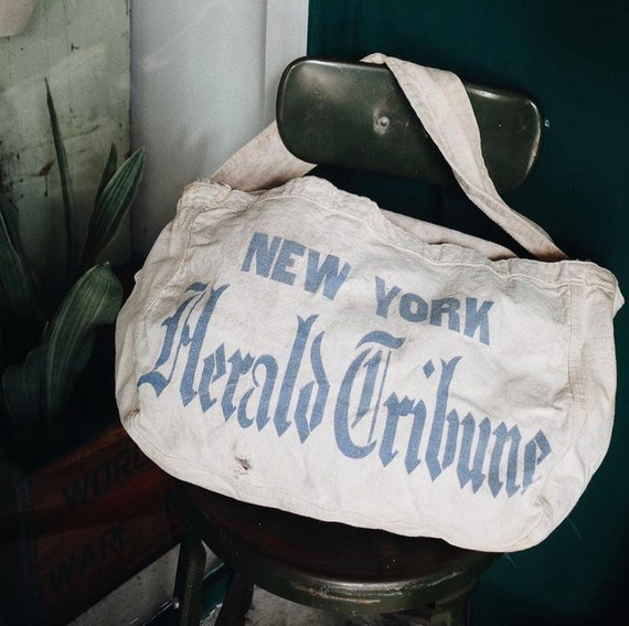 Vintage New York Herald Tribune Newspaper newsboy