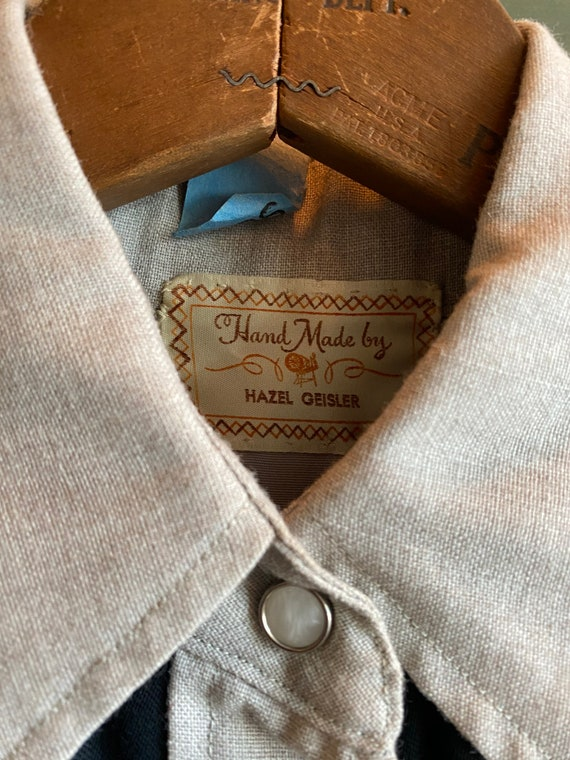 Vintage 1940s 1950s western cowboy embroidered sh… - image 5