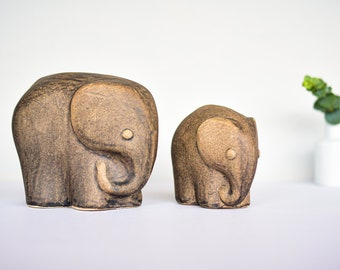 Studio Ceramic Elephants Vintage Figures MidCentury 60s 70s Ceramic Figures