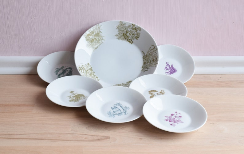 MELITTA Bowl with small plates  Pastel  Confectionery set image 0