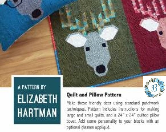 DWIGHT THE DEER Quilt Pattern - Pattern by Elizabeth Hartman
