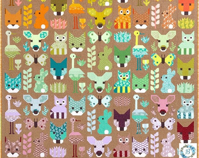 PATTERN - DELIGHTFUL DESERT - Pattern by Elizabeth Hartman  Mix and Match Animal Sampler Quilt Large and Small  Pattern
