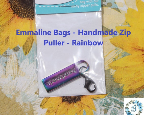 Emmaline Bag Hardware - Handmade Zipper Pull - Rainbow