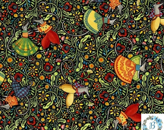 In the Beginning Fabrics - Digital Print Themed Hey Diddle Diddle By Julie Paschkis