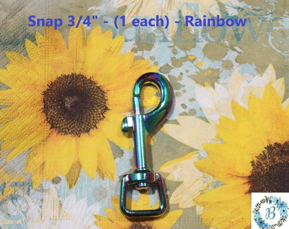 Rainbow Bag Hardware - Snap 3/4 Inch Top Quality