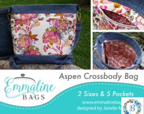 """EMMALINE BAGS - """"NEW"""" Aspen Cross Body - Pattern (2 sizes and 5 pockets)  **For the intermediate Sewist**"""
