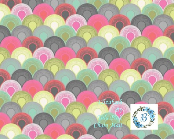 TULA PINK Elizabeth - Chain Mail Tartx - Out of Production sold by the 1/2 metre