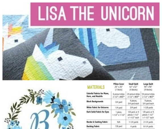 LISA THE UNICORN - Pattern by Elizabeth Hartman