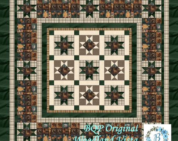 QUILT KIT - Woodland Vista - Create a quilt for reflections of a Woodland Vista. This BQP Original,designed by Debra Caughell will inspire.